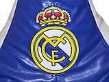 Бескаркасная мебель кресло груша пуфик детский с вышивкой Реал Мадрид, фото 3