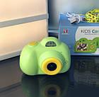 Дитячий фотоапарат, Kids Camera c дисплеєм, дитяча фотокамера, Зелена, фото 7