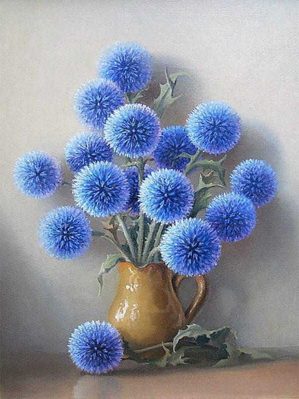 Картина рисование по номерам Чарівний діамант Синие пушистики РКДИ-0046 30х40см набор для росписи, краски,