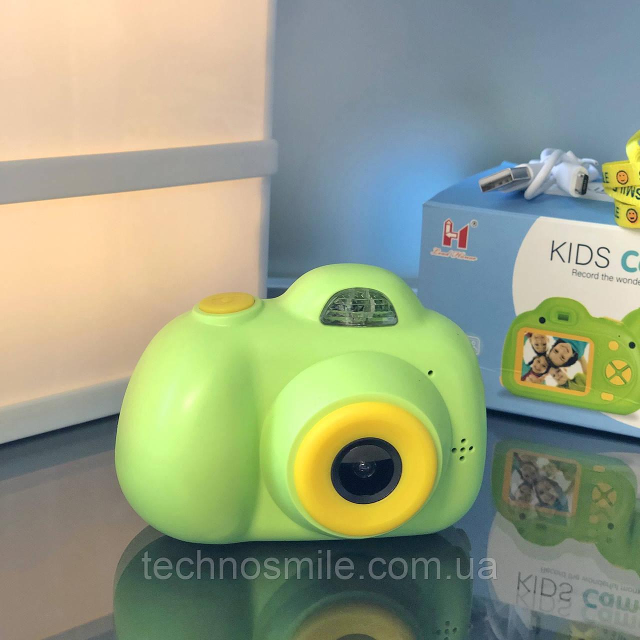 Дитячий фотоапарат, Kids Camera c дисплеєм, дитяча фотокамера, Зелена