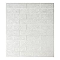 Декоративные 3Д стеновые панели под кирпич Белый 700х770х5мм