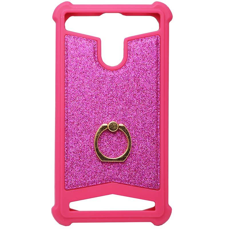 """Чехол универсальный накладка GOLD Ring NEW 5""""-5.3"""" дюймов Розовый"""