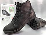 Зимние кожаные ботинки под кроссовки на молнии Bertoni, фото 6