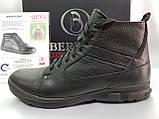 Зимние кожаные ботинки под кроссовки на молнии Bertoni, фото 4