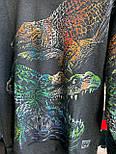 😜 Свитшот - Мужской базовый свитшот черный с крокодилами, фото 3