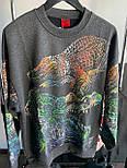 😜 Свитшот - Мужской базовый свитшот черный с крокодилами, фото 5