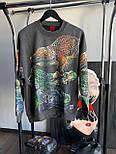 😜 Свитшот - Мужской базовый свитшот черный с крокодилами, фото 6