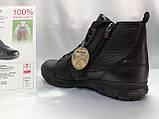 Зимние кожаные ботинки под кроссовки на молнии Bertoni, фото 7