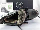 Зимние кожаные ботинки под кроссовки на молнии Bertoni, фото 8