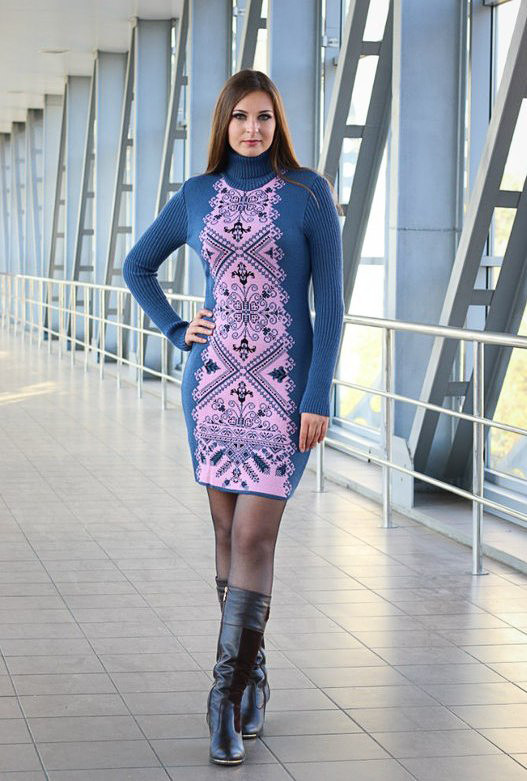 орнаменты для фото вязанные платья