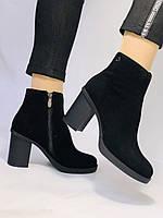 Женские ботинки. На среднем каблуке. Натуральный замш. Люкс качество. Blue Tempt. Р. 37, 38 .Vellena, фото 2