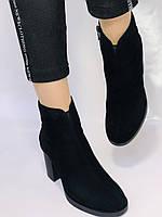 Жіночі черевики. На середньому каблуці. Натуральний замш. Люкс якість. Blue Tempt. Р. 37, 38 .Vellena, фото 8