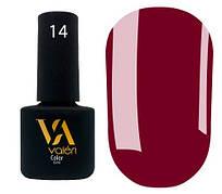 Гель-лак Valeri 14 (Винно-бордовый эмаль)