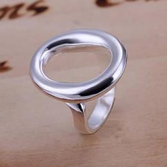 Кольцо, Латунь, Цвет: Серебро, Размер 16.5, 1 шт