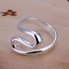 Кольцо, Латунь, Цвет: Серебро, Размер 18.1, 1 шт
