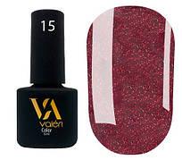 Гель-лак Valeri 15 (Винно-бордовый микроблеск)