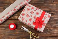 Бумага новогодняя для упаковки рулон