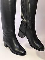 Широкая нога. Осенне-весенние сапоги на среднем каблуке. Натуральная кожа. Люкс качество. Molka. Р. 35. 36, фото 10