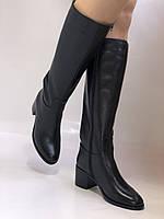 Широкая нога. Осенне-весенние сапоги на среднем каблуке. Натуральная кожа. Люкс качество. Molka. Р. 35. 36, фото 7