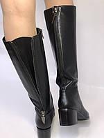 Широкая нога. Осенне-весенние сапоги на среднем каблуке. Натуральная кожа. Люкс качество. Molka. Р. 35. 36, фото 4