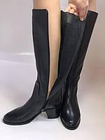 Широкая нога. Осенне-весенние сапоги на среднем каблуке. Натуральная кожа. Люкс качество. Molka. Р. 35. 36, фото 9