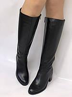Широкая нога. Осенне-весенние сапоги на среднем каблуке. Натуральная кожа. Люкс качество. Molka. Р. 35. 36, фото 3