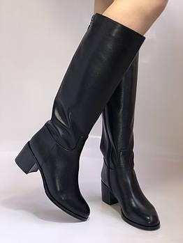 Широкая нога. Осенне-весенние сапоги на среднем каблуке. Натуральная кожа. Люкс качество. Molka. Р. 35. 36