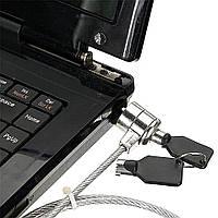 Трос замок Kensington lock для ноутбука с ключом паролем Кегистон