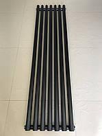 Радіатор дизайнерський вертикальний MATERA 7/1500 Чорний матовий 1500*413, фото 1