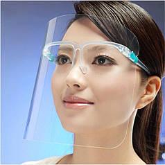 Защитная маска-щит на все лицо Face Shield (10шт)