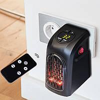 Тепловентилятор в розетку Handy heater 400 Вт Портативний електрообігрівач c пультом і таймером, фото 1
