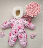 Комбинезон зимний конверт для новорожденного!Новинка!! ХИТ СЕЗОНА!, фото 5