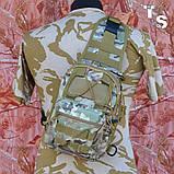 Універсальна тактична сумка-рюкзак через плече повсякденна H&S Tactic Bag 600D мультікам, фото 3