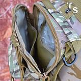 Універсальна тактична сумка-рюкзак через плече повсякденна H&S Tactic Bag 600D мультікам, фото 5