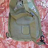 Універсальна тактична сумка-рюкзак через плече повсякденна H&S Tactic Bag 600D мультікам, фото 6
