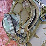 Універсальна тактична сумка-рюкзак через плече повсякденна H&S Tactic Bag 600D мультікам, фото 7