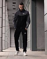 Спортивный костюм мужской Under Armour Андер Армор с капюшоном теплый зима олимпийка штаны черный с серым Киев