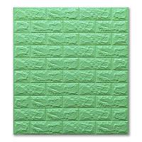 Декоративные стеновые 3Д панели под кирпич Мята 700х770х7мм