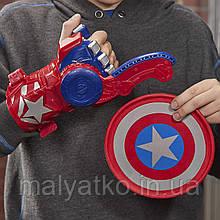 Зброя Щит Нерф NERF Капітан Америка Marvel Avengers Captain America Power Shield Sling Hasbro