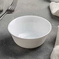 Гладкий білий салатник на одну порцію Luminarc Everyday 120 мм (H4122)