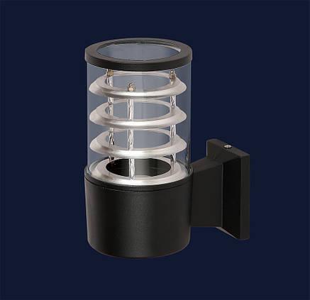 Вуличний настінний світильник чорний під лампу Е27 Levistella 923LYH6601 BK, фото 2
