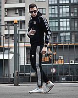 Спортивный костюм мужской зимний Adidas Zipper | комплект теплый Кофта + Штаны на флисе ЛЮКС качества