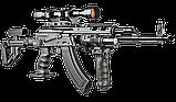 Складной приклад Fab Defense UAS-AKMS с регулируемым подщёчником для АКС-47 и АКМС с складным вниз прикладом, фото 4