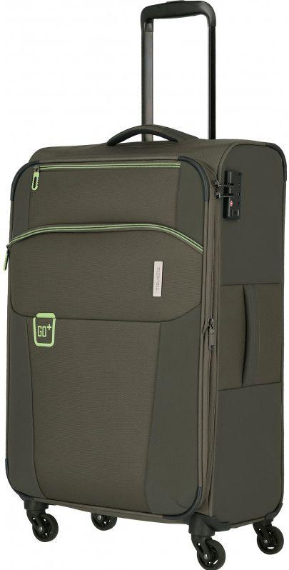 Средний тканевый чемодан Travelite Go хаки 64 л