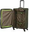 Средний тканевый чемодан Travelite Go хаки 64 л, фото 6
