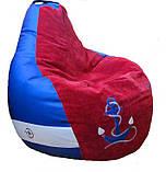 Бескаркасное кресло груша и пуфик МОРЕ  мягкая мебель детская, фото 10