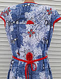"""Трикотажный халат """"Джинс"""" 58 размер, фото 10"""