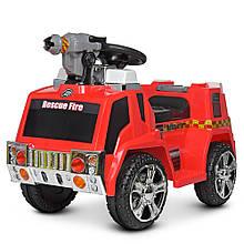Дитячий електромобіль толокар пожежна машина ZPV119AR-3 з мильними бульбашками