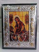 Ікона Пресвятої Богородиці «Кассопитра» в алюмінієвому корпусі 13х17см