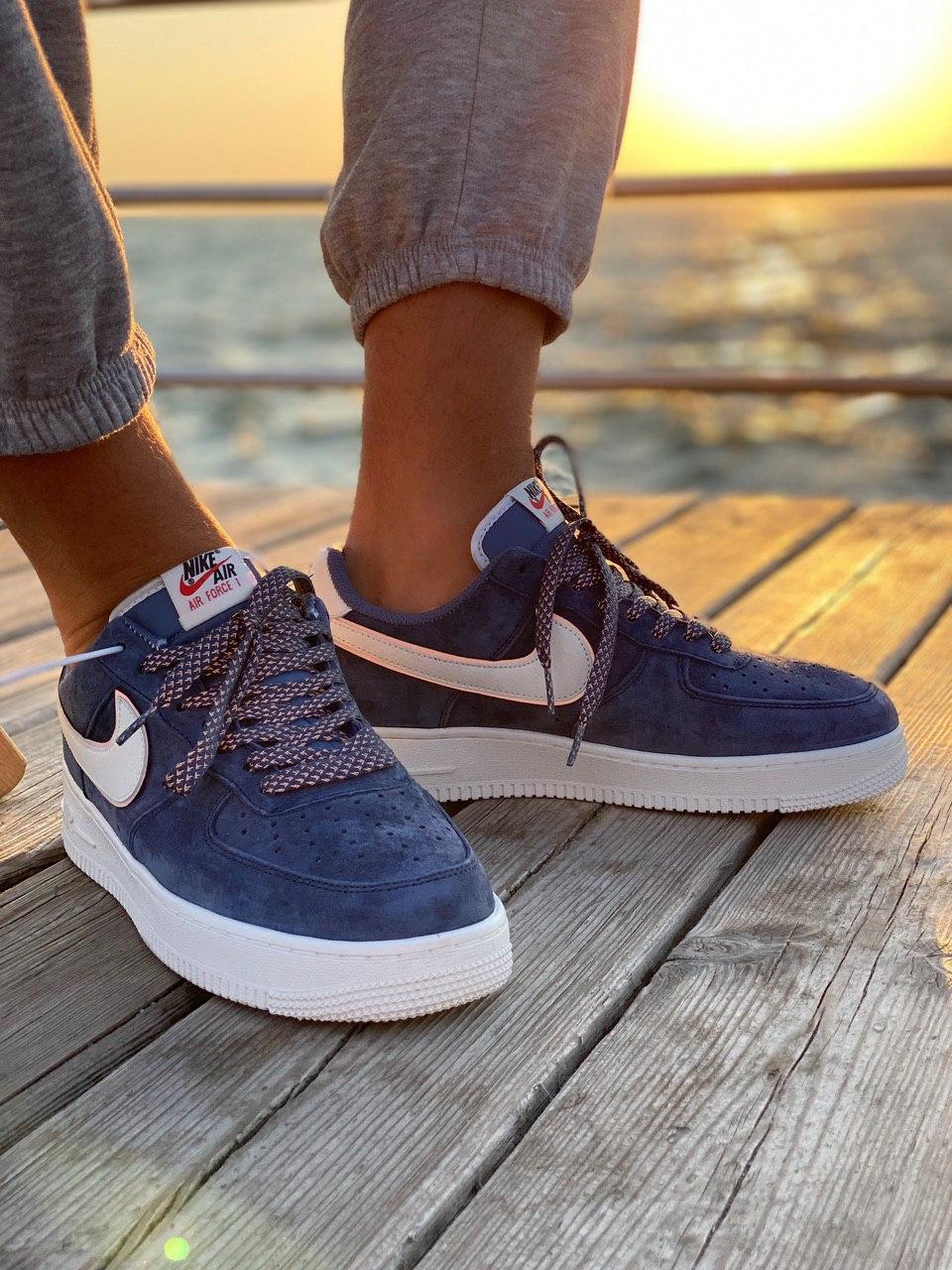 Кроссовки мужские Nike Air Force 1 Reflective, синие